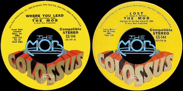 THE MOB: Where You Lead / Lost | Colossus Records CS-144