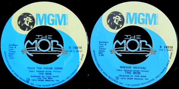 THE MOB: Tear The House Down / Rockin' Revival | MGM Records K 14519
