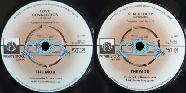 THE MOB: Love Connection / Gemini Lady | Private Stock Records PS 45,159
