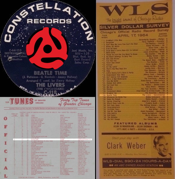 Beatle Time - The Livers | Top Tunes Of Greater Chicago April 27, 1964 | WLS Silver Dollar Survey April 17, 1964
