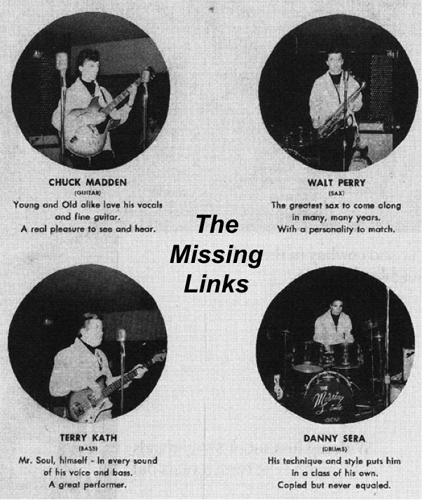 The Missing Links, Chuck Madden, Walt Parazaider, Terry Kath, Danny Seraphine